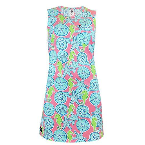 cc64063c1d5 Simply Southern Sleeveless Seahorse Shell Dress XSSM -- You can get more  details by clicking on the image.