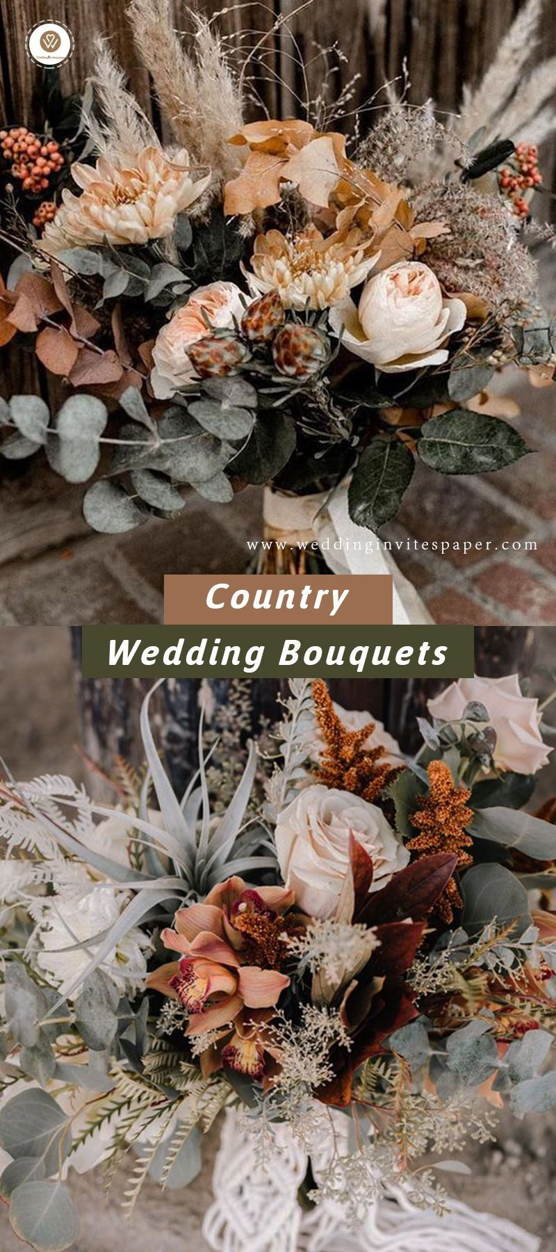 35 Rustic Wedding Decorations #fallbridalbouquets