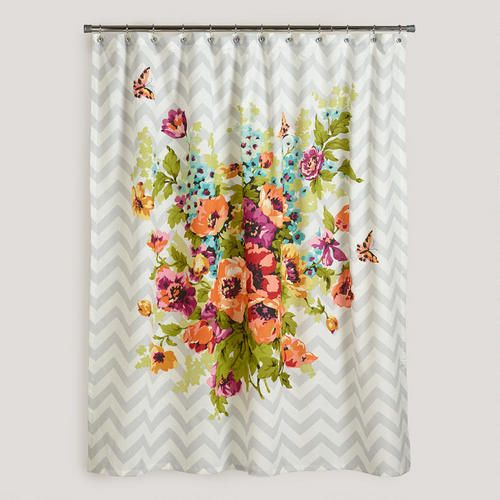 Cost Plus World Market Shower Curtain Floral Shower Curtains