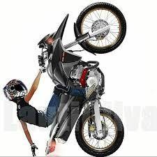 resultado de imagem para adesivo moto empinando top pinterest