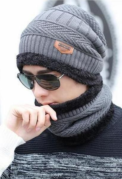 81506f3ea46aaf Warm and thick this stylish hat and neck warmer set is great for skiing,  snowboarding, motorcycling or simply walking outside. Made of cotton/wool  blend, ...