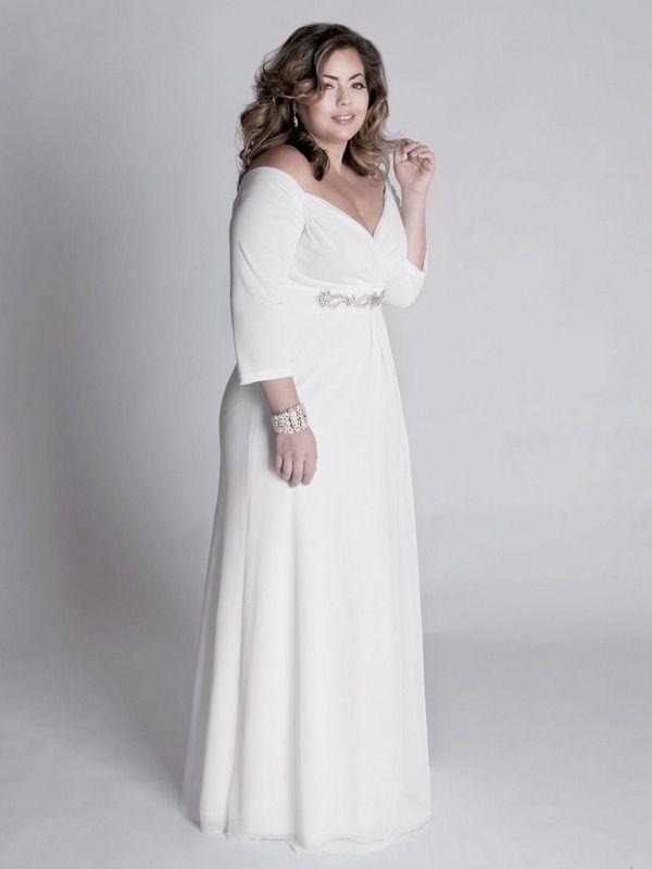 Plus size off white dresses