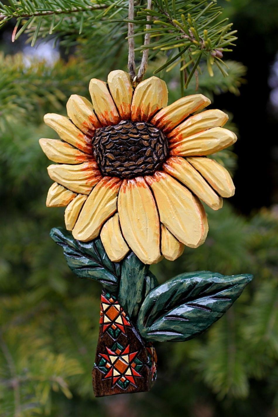 Sunflower Ornament Ornaments, Christmas tree ornaments