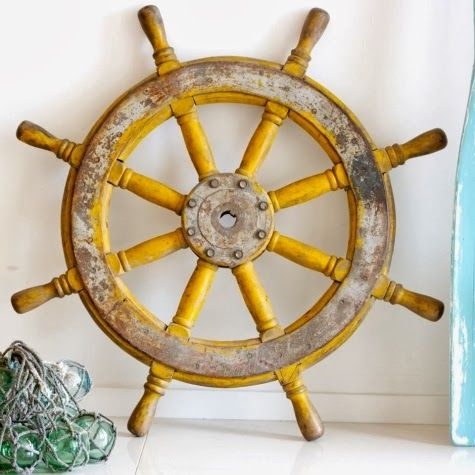 Pin By The Nautical Place On Wood Ship Wheels Ship Wheel Wooden Ship Boat Wall Decor