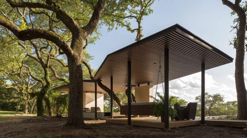La Grange Pavilion Pool House 02 850x478 Poolside Pavilion Designed by Murray Legge Architecture in Austin, Texas, USA