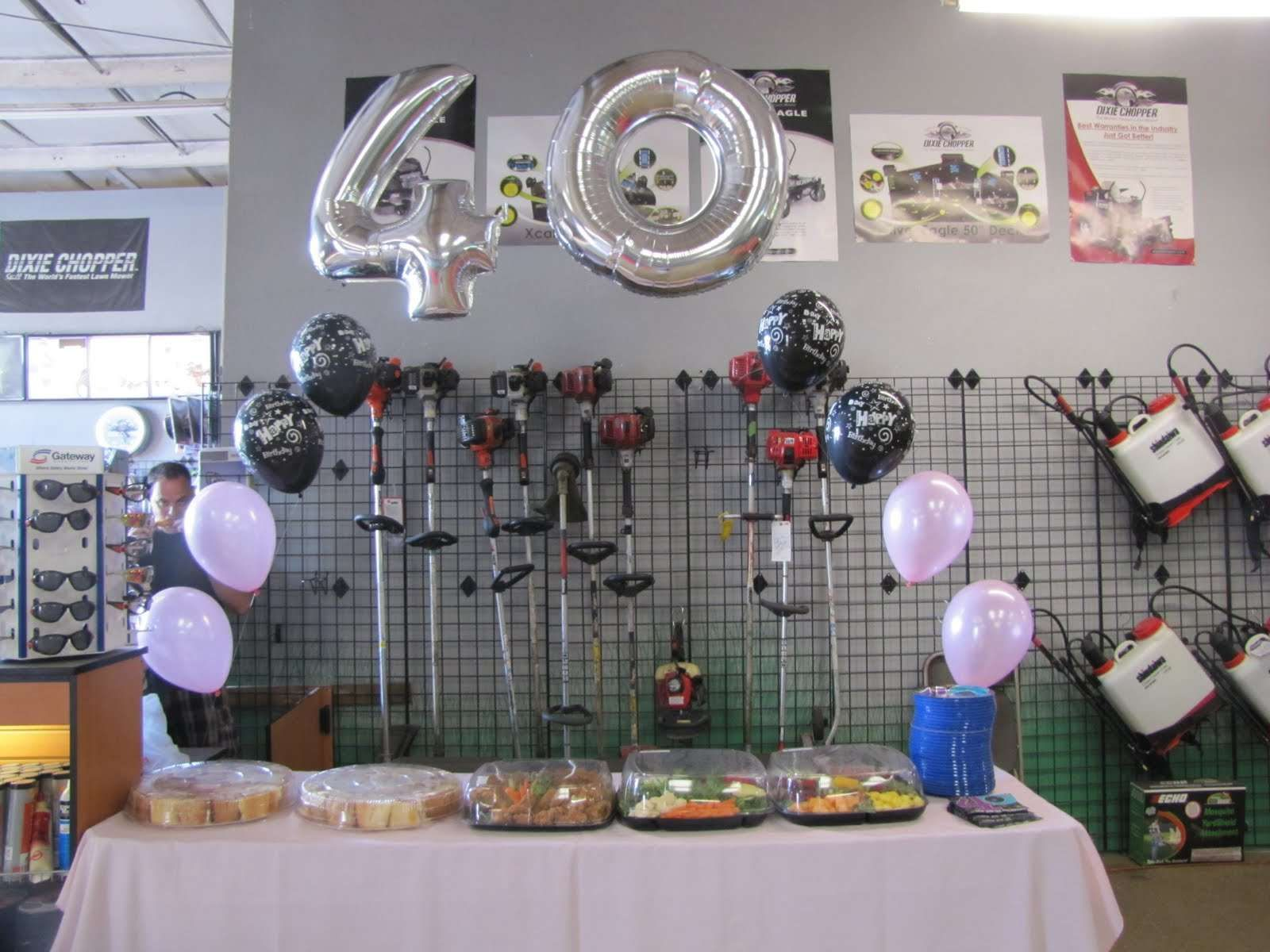 40th Birthday Table Decoration Ideas Photograph Pan For Picnic Party From Surprise Birthd