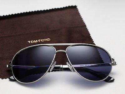 7feee1eaa62 JAMES BOND 007 SKYFALL Blue TOM FORD Aviator Marko Sunglasses TF 144 18V FT  0144 in Clothing