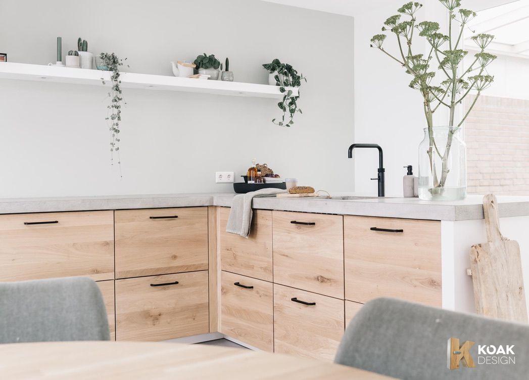 We love this Scandinavian oak Koak kitchen design!