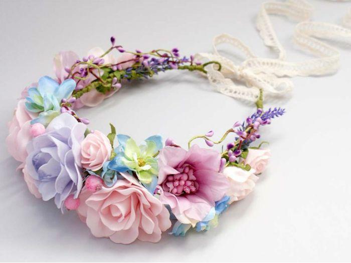 si te gustan las coronas de flores en este post te enseamos cmo hacer una - Como Hacer Diademas De Flores