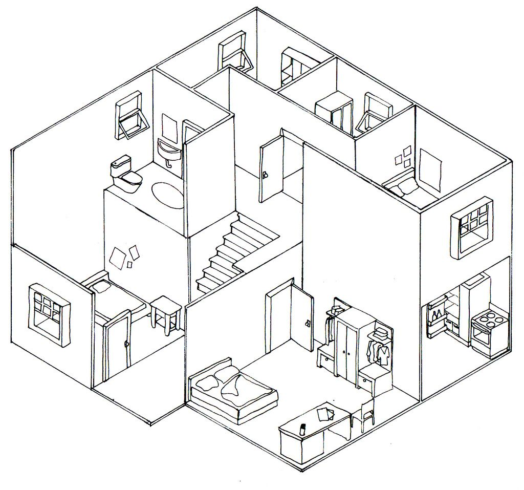 Simple Isometric Drawings Plan Oblique And Isometric