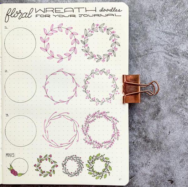 Photo of Floral wreath doodle tutorials!