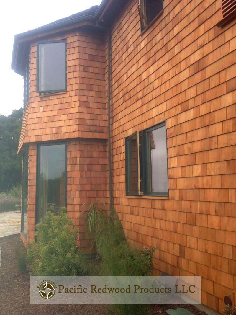 Best Redwood Shingles Shingling House Exterior 400 x 300