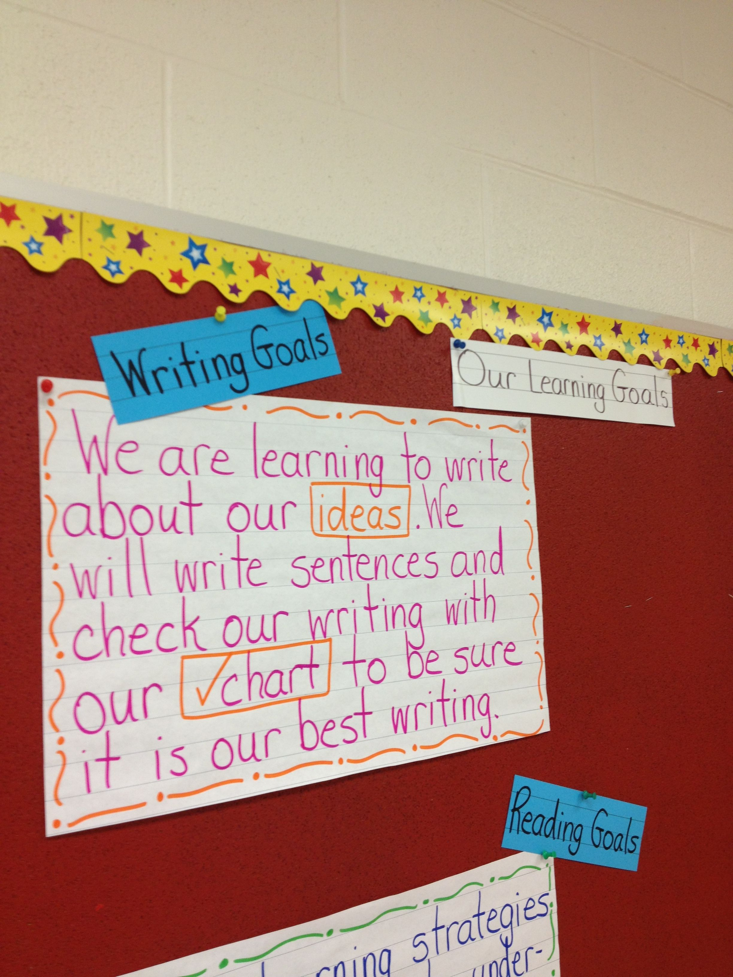 Our First Learning Goal For Writing This Year We Will Make The Success Criteria For Sentences