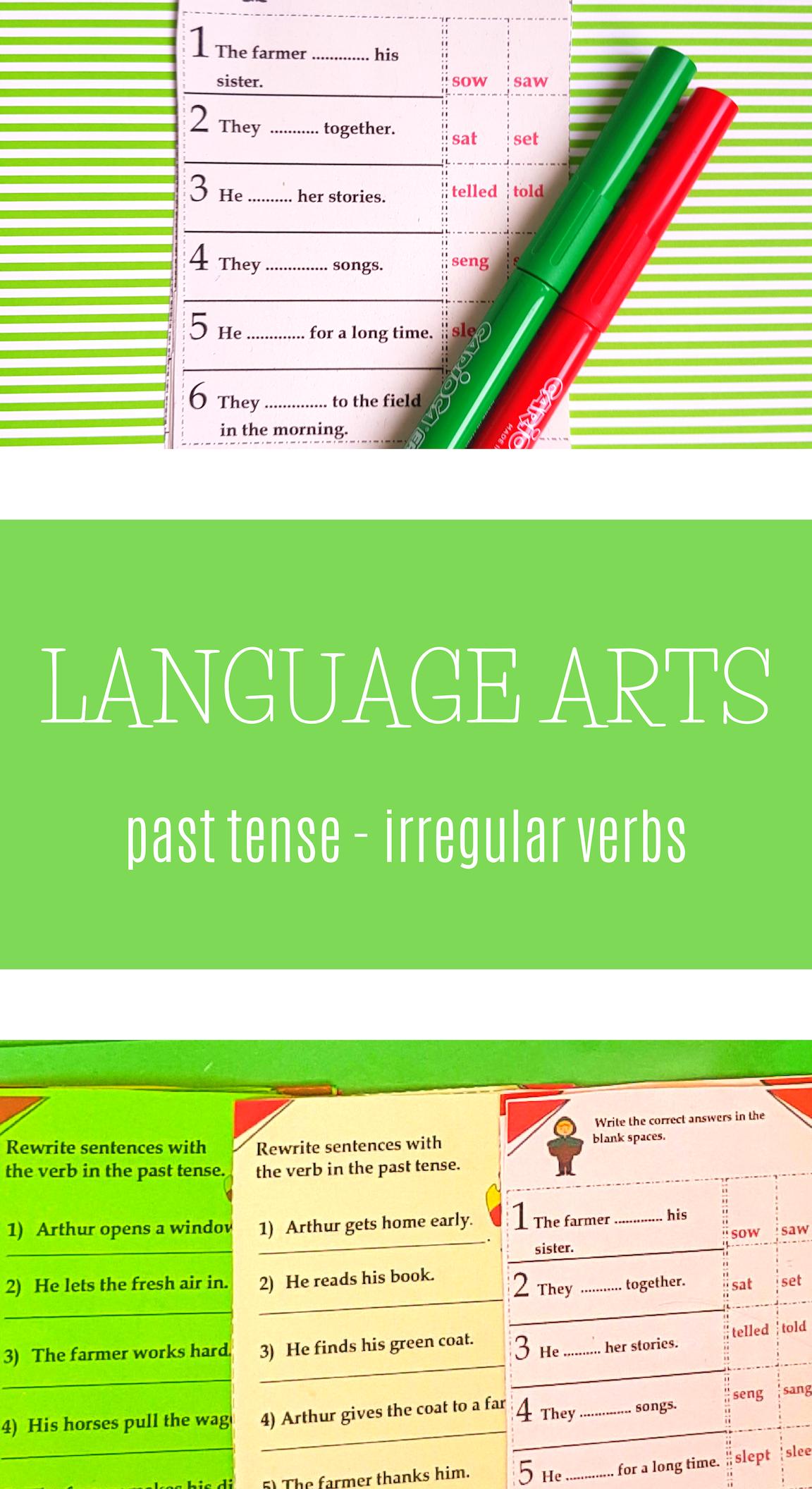 Irregular And Regular Past Tense Verbs Worksheets And Interactive Notebook Irregular Verbs Regular Past Tense Verbs Past Tense [ 2112 x 1152 Pixel ]