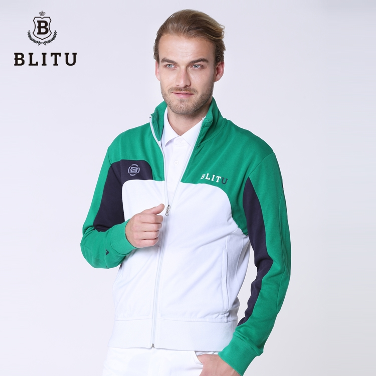 58.00$  Watch now - http://alifrg.worldwells.pw/go.php?t=32509386469 - Blitu autumn and winter fashion casual sports golf clothes male long-sleeve thin outerwear golf shirt