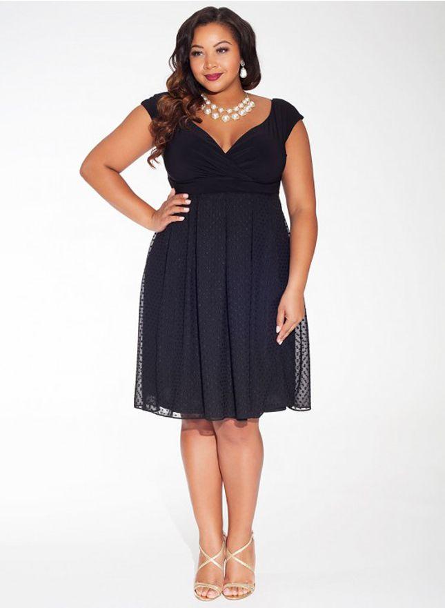 9 Adelle Plus Size Dress In Noir Dot 168 Keep It Classy In A