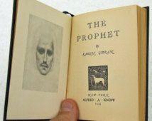 Vintage 1955 The Prophet Kahlil Gibran