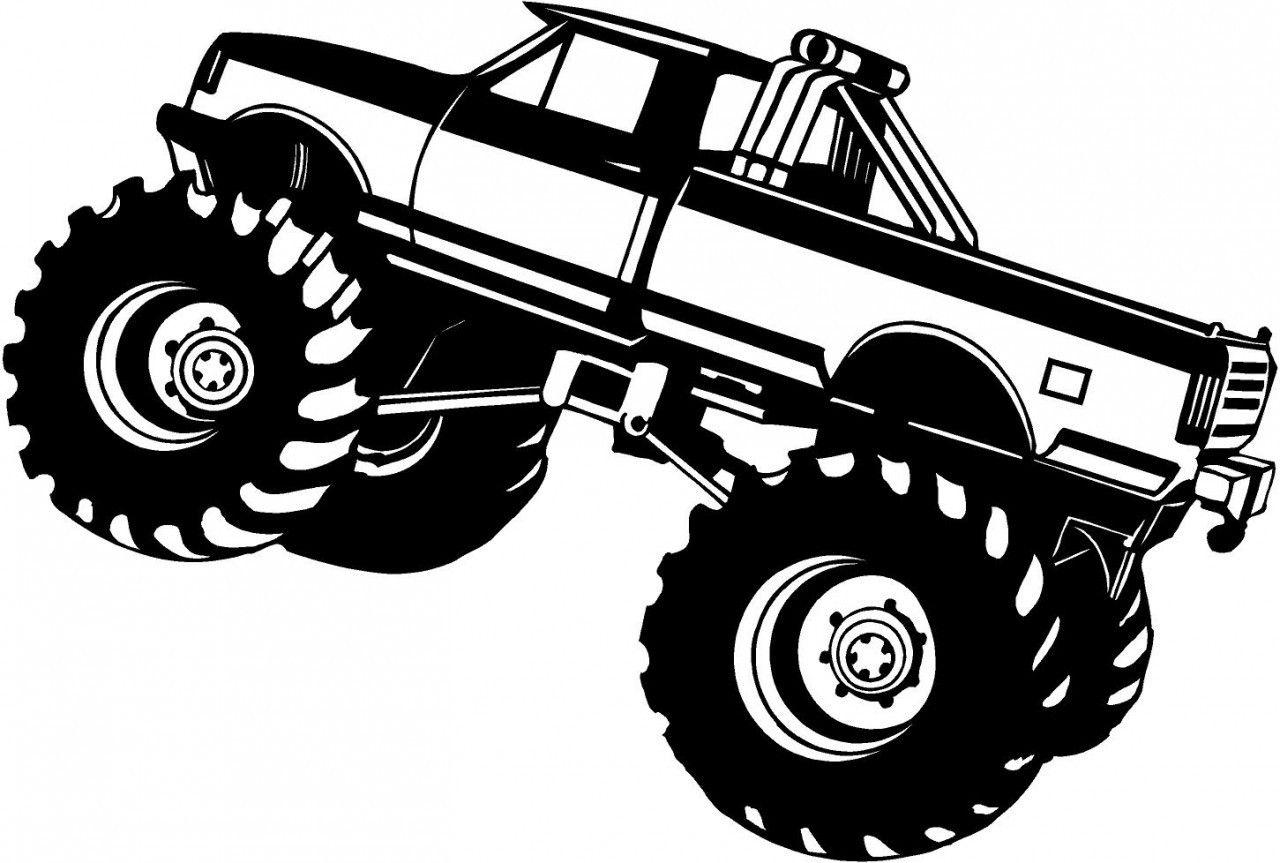 Bigfoot Monster Truck Coloring Page Monster Trucks Monster