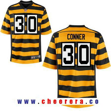 new styles 08c92 7d9d0 Men's 2017 NFL Draft Pittsburgh Steelers #30 James Conner ...
