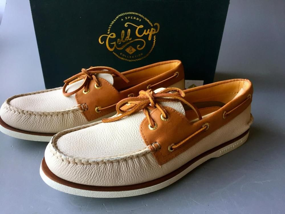 Sperry Top Sider Gold Cup Authentic 9.5IVORY Original Boat SchuheSZ 9.5IVORY Authentic ... 599fe3