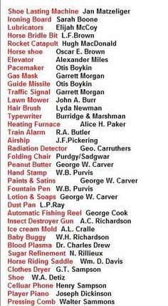 Photo of African American History Inventors List! You will be suprise at what black inventors created that we use today