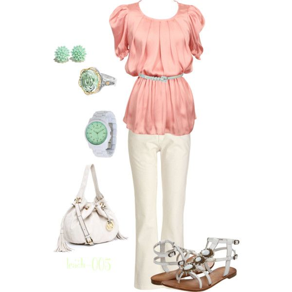 Pink & Mint, created by leach-005 on Polyvore