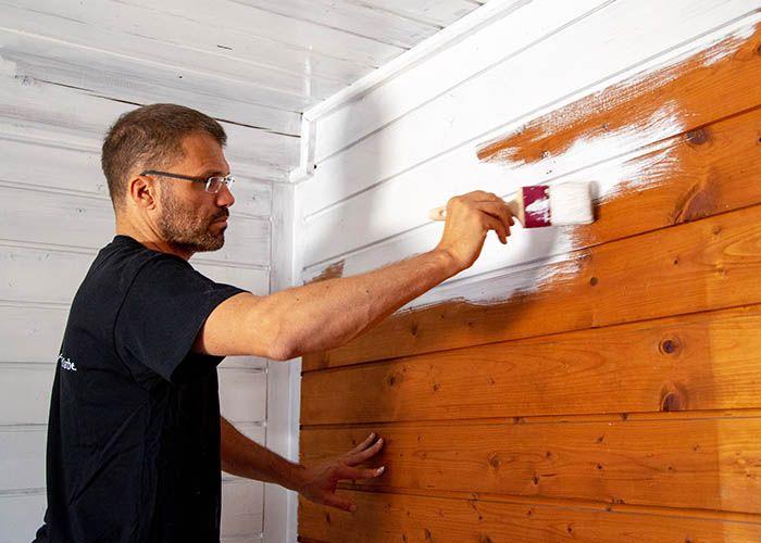 Holzdecke Streichen Tipps Von Adler Farbenmeister In 2020 Schabby Schick Holzdecke Deckenverkleidung