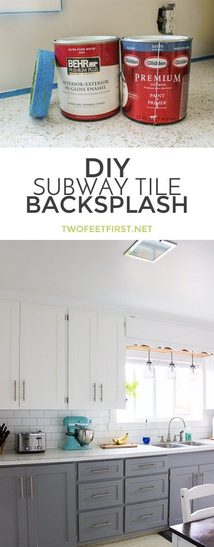 How to Paint a Backsplash to Look like Tile new kitchen