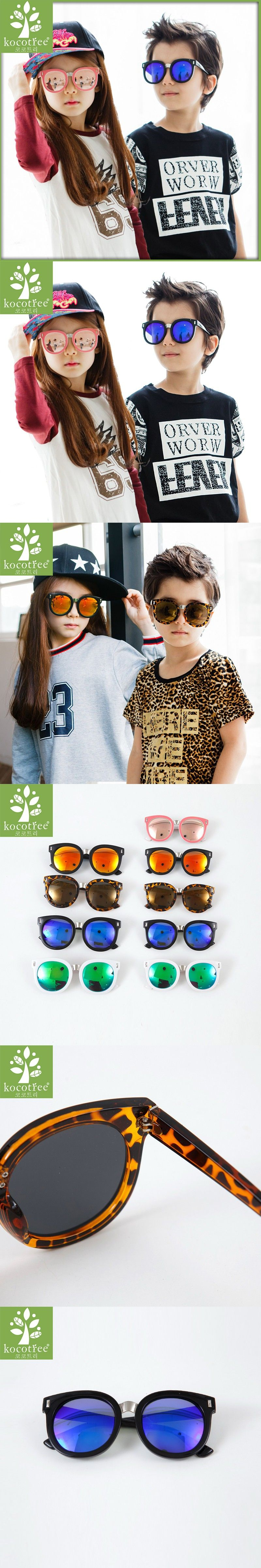 d9a9b73ba31 Kocotree 2016 round parents child sunglasses adult kids two sizes  Photochromic lenses anti-UV plastic