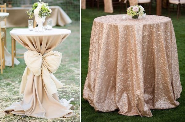 Gentil Covered Pub Tables And Sequined Table Clothes... Yes And Yes...perhaps For  Sweetheart And Cake Table!