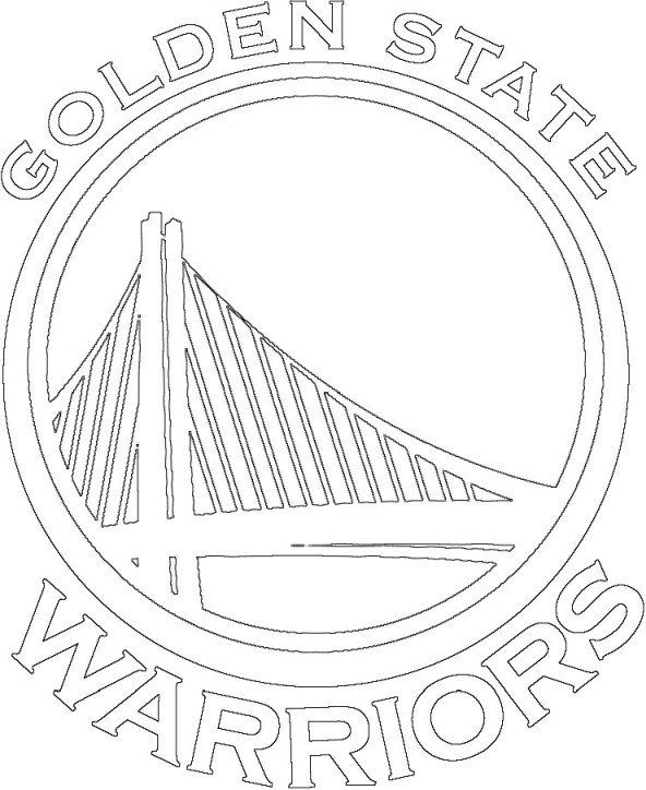 Golden State Warriors Coloring Pages Golden State Warriors Logo Coloring Page Fre In 2020 Golden State Warriors Logo Golden State Warriors Golden State Warriors Colors