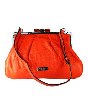 Another great find on #zulily! Kate Spade Orange Kiss Lock Shoulder Bag by Kate Spade #zulilyfinds