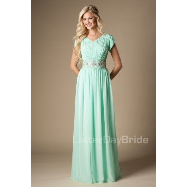 Modest Prom Dresses ❤ liked on Polyvore featuring dresses, brown ...