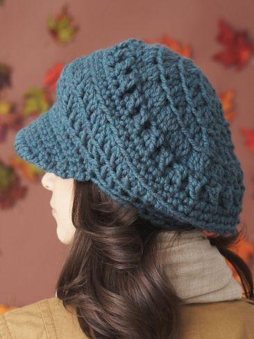 Slouchy Peaked Hat Yarn Free Knitting Patterns Crochet
