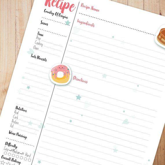 Pin On Scrapbook Recipe Book