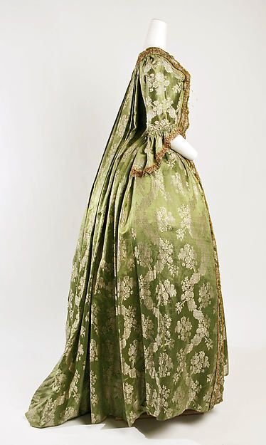 Dress (image 2) | French | 1750 | silk | Metropolitan Museum of Art | Accession Number: C.I.43.90.51a, b