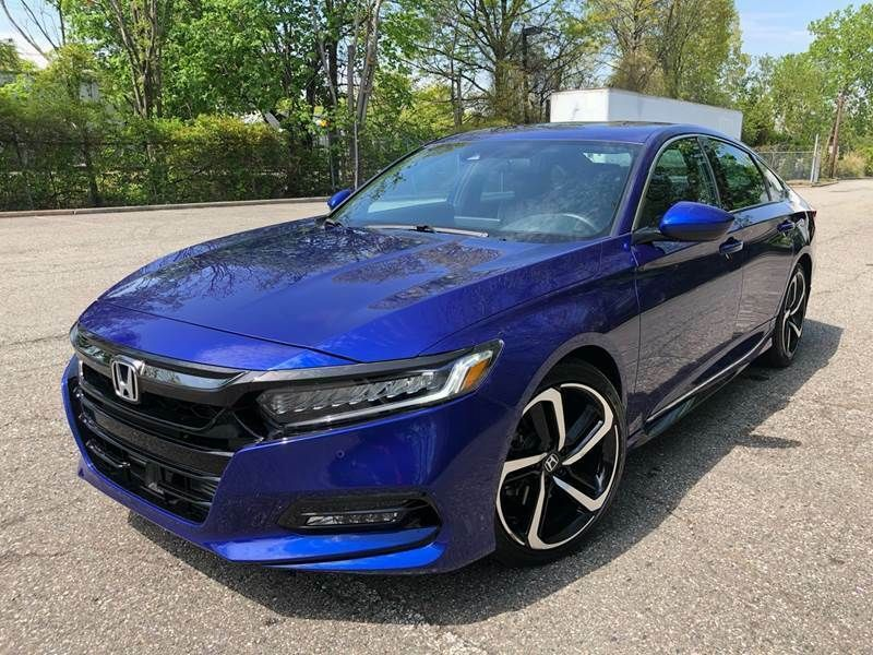 2018 Honda Accord Sport (2.0T I4 10A) Blue Sedan (With