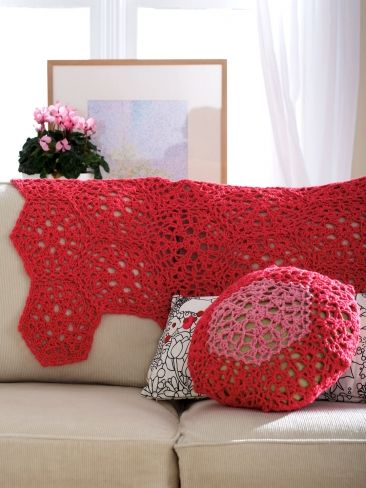 Free Pattern For Cranberry Mousse Throw And Cushion The Throw Would