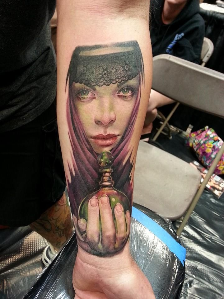 Sarah Miller Tattoo artists, Portrait tattoo