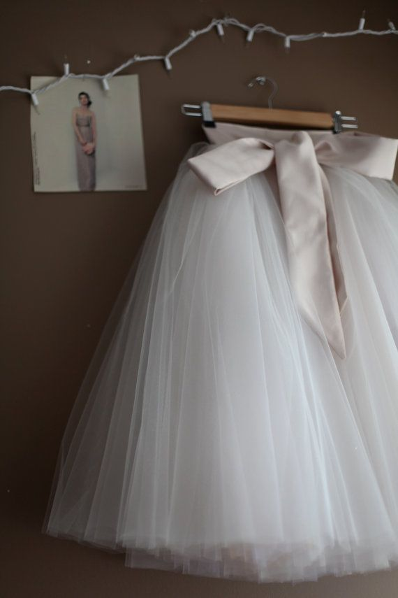 b1af2c8dee7 The REAL Mary Grace/Angrassia Dress: Champagne Toned Tulle Tutu Skirt with  Sash for Flower Girl by Anagrassia. Champagne Ivory Flower Girl Tulle Skirt  by ...