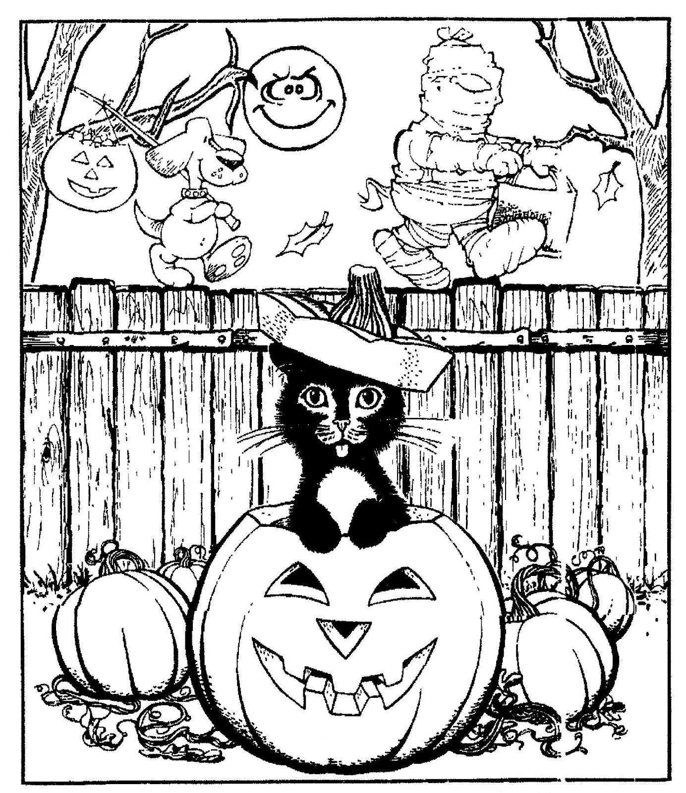 Mostly Paper Dolls Halloween Coloring Sheets Halloween Coloring Book Fall Coloring Pages