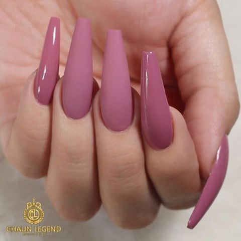 repost   •   glossy  matte mauvepink on long coffin