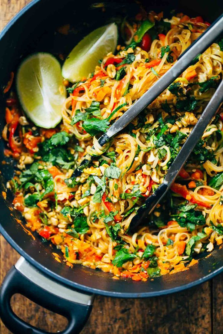Rainbow vegetarian pad thai a fast and easy recipe that s adaptable to whatever veggies or