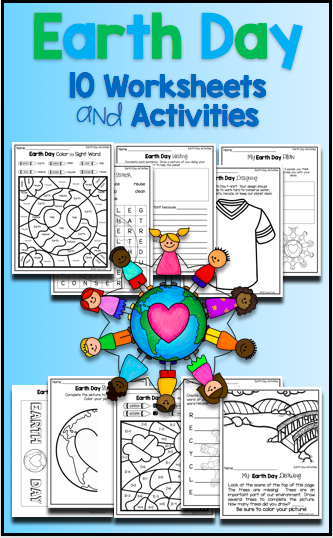 Earth Day Activities and Worksheets - Word Search Solve and Color ...
