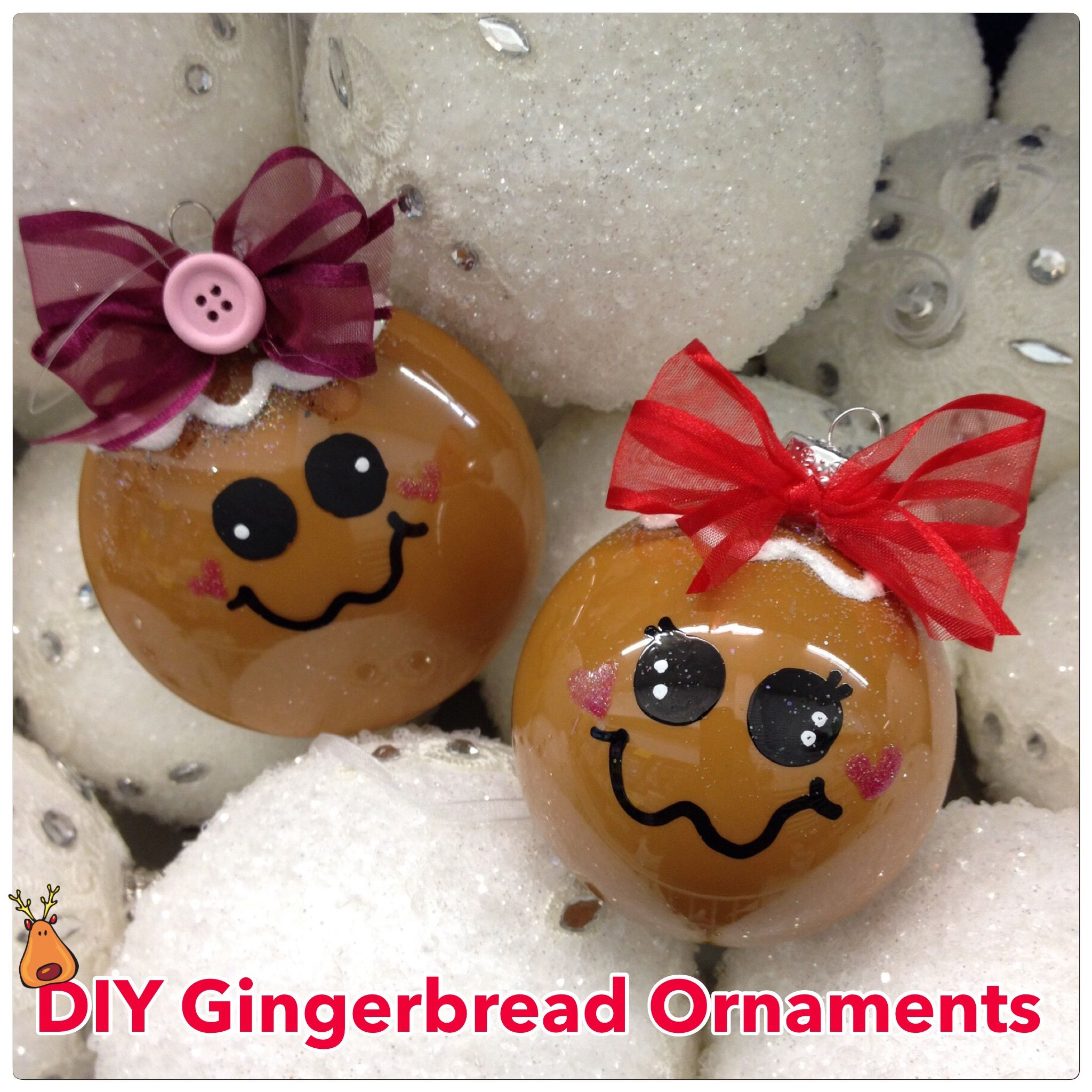 Diy Gingerbread Ball Ornament Pour Tan Paint Inside The Clear Ball Let Dr Diy Christmas Ornaments Easy Clear Christmas Ornaments Christmas Ornaments Homemade