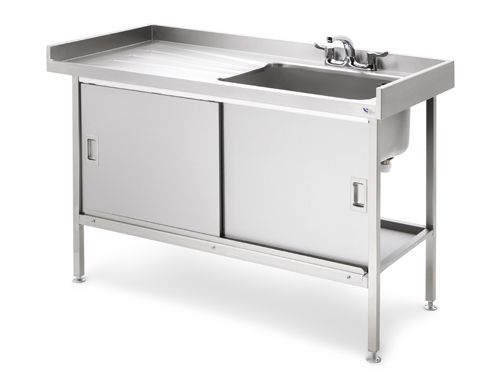 Stainless Steel Sink With Sliding Doors | garages | Pinterest ...