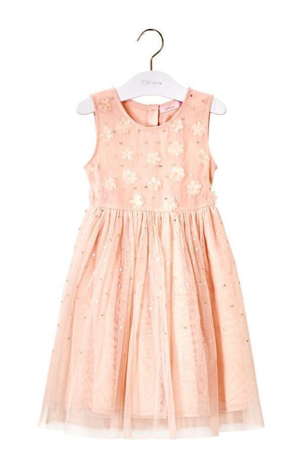 8c204307dd27bb Tule jurk met pailletten Licht Roze