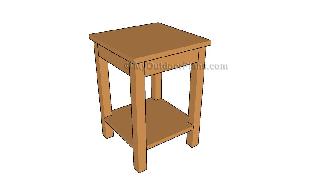 How To Build A Side Table DIY Projects Pinterest Wooden - How to build a side table