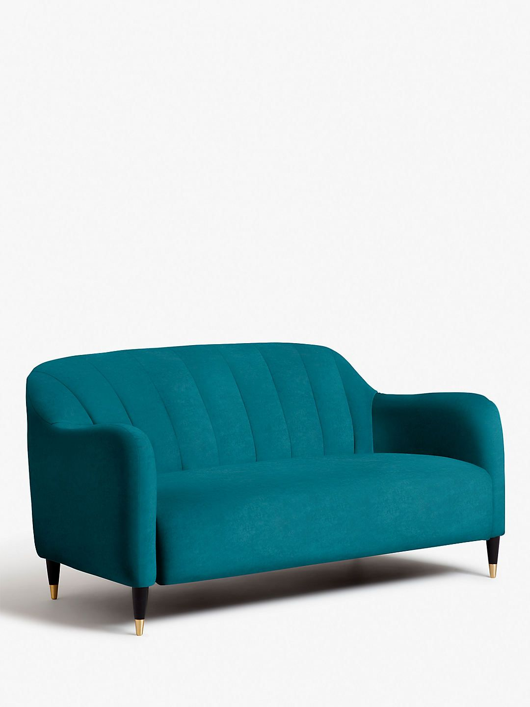 Buyjohn Lewis Partners Meghan Fluted Back Small 2 Seater Sofa Dark Leg Online At Johnlewis Com 2 Seater Sofa Sofa Seater Sofa