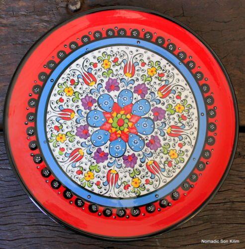 Handmade Ceramic Platter In Coastal Kitchen: Colourful! Turkish Ceramic Plates